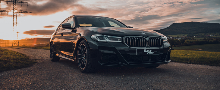BMW 2020 M550i G30 Chip Tuning   Dyno   100-200 km/h   RaceChip